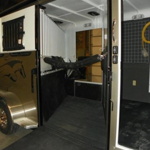 Double D Horse Trailer Solid Divider 020