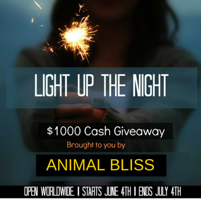 Light Up the Night $1000 Cash Giveaway, ends July 4