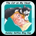 The Cat On my Head, Sunday selfies blog hop links