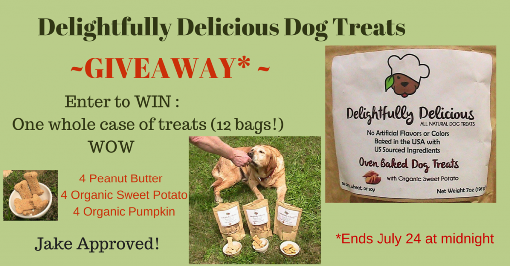 Delightfully Delicious All Natural Dog Treats Review and Giveaway