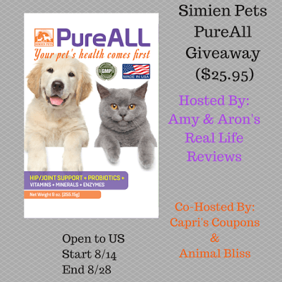 Simien Pets PureAll Giveaway – Ends 8/28
