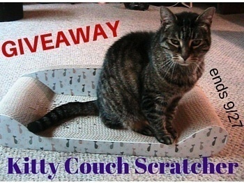 Kitty Couch Scratcher Review and Giveaway