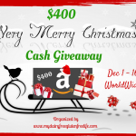 Very Merry Christmas Cash Giveaway, ends 12/16