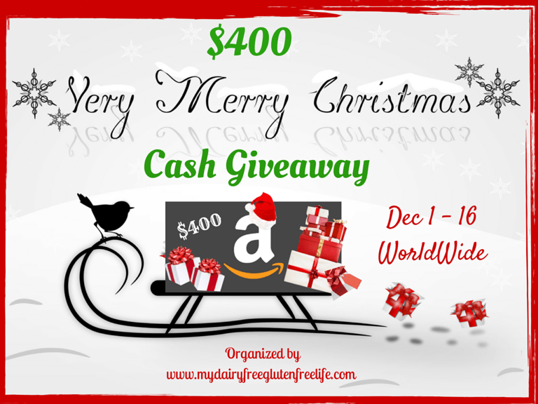 Enter our Very Merry Christmas Cash Giveaway now for a chance to WIN an extra $400