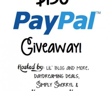 $150 PayPal Cash Giveaway, ends April 7