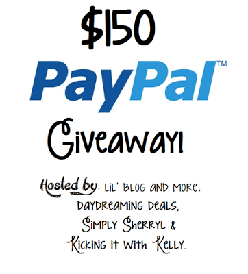 $150 PayPal Cash Giveaway, ends April 7