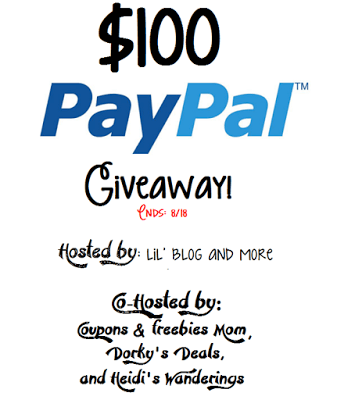 $100 PayPal Cash Giveaway, ends 8/18