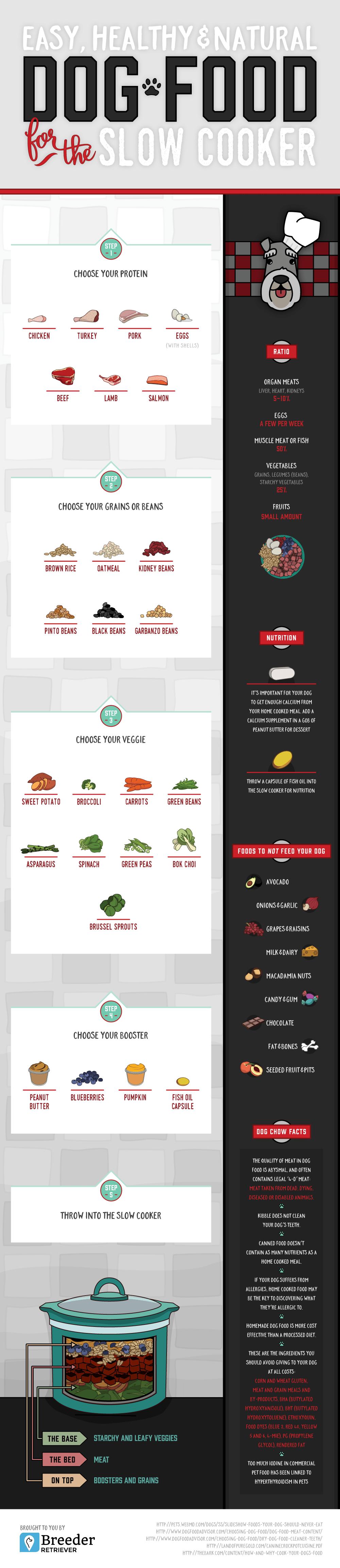 Slow Cooker Dog Food