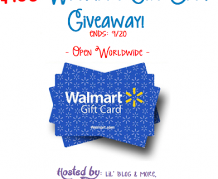 Walmart Gift Card Giveaway, WIN $100, ends 9/20