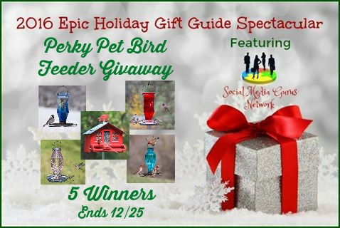 Perky Pets Bird Feeder Giveaway, ends Dec. 25