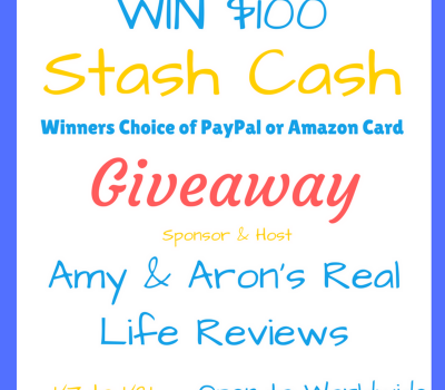 Stash Cash Giveaway, Chance to WIN $100, ends 1/21