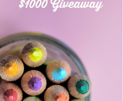 Back to School Giveaway, 2 Winners $500 each, end 9/30