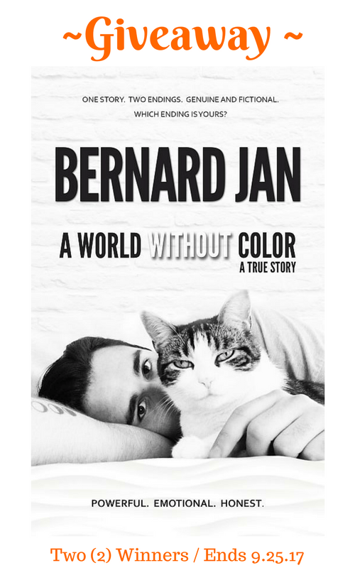 "Giveaway: ""A World Without Color"" eBook by Bernard Jan is an emotional true story of the last three days the author spent with his cat, Marcel."